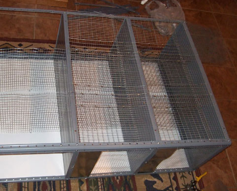 Chinchilla Cage built out of shelves